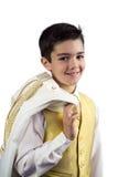 他的第一个圣餐的年轻男孩 免版税图库摄影