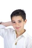他的第一个圣餐的年轻男孩 免版税库存照片