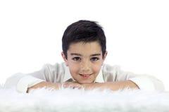 他的第一个圣餐的年轻男孩 免版税库存图片