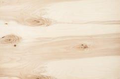轻的米黄胶合板葡萄酒木头纹理 顶视图,木板 库存照片