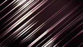 的紫色和慢慢地眨眼睛绿色闪动的线,无缝的圈 o 在慢的摘要霓虹发光的狭窄的线 皇族释放例证