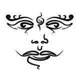 头的纹身花刺喜欢印度神 库存图片