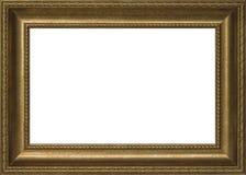 绘的老金黄框架 库存照片