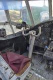 An-2的老驾驶舱 免版税库存照片