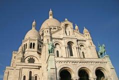 巴黎的耶稣圣心的大教堂的细节 库存照片