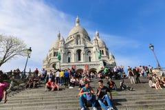 巴黎的耶稣的神圣的心脏的大教堂 免版税图库摄影