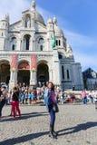 巴黎的耶稣的神圣的心脏的大教堂 免版税库存图片