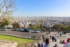 巴黎的耶稣的神圣的心脏的大教堂 免版税库存照片