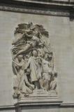从巴黎的胜利曲拱的雕塑在法国 免版税库存照片