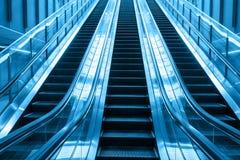 去的自动扶梯台阶 库存照片