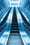 去的自动扶梯台阶 免版税库存图片