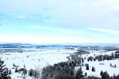 冻结的自然在巴伐利亚 库存图片