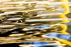 水的色的表面作为背景 免版税库存照片