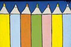 画的色的铅笔 免版税库存图片