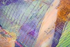 绘的艺术性的明亮的颜色油漆构造抽象艺术品 难看的东西墙纸的现代未来派样式 库存图片