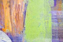 绘的艺术性的明亮的颜色油漆构造抽象艺术品 难看的东西墙纸的现代未来派样式 免版税库存图片