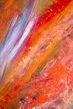 绘的艺术性的明亮的颜色油漆构造抽象艺术品 难看的东西墙纸的现代未来派样式 库存照片