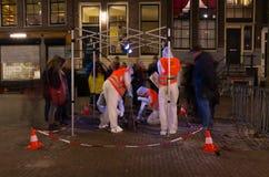 轻的节日在阿姆斯特丹 图库摄影