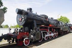 1905的蒸汽机车年发行在露天的博物馆 库存照片