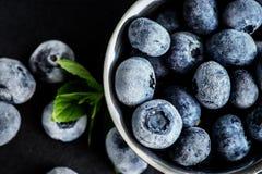 冻结的蓝莓 免版税库存照片
