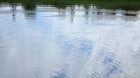 轻的补丁程序波纹水波 库存图片