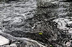水的表面与泡沫的 库存照片