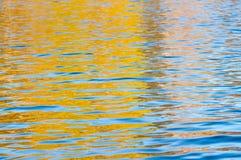 水的表面与波纹的 库存图片