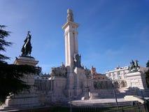 1812的西班牙宪法的纪念碑 免版税库存照片