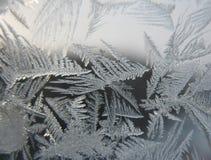 冻结的视窗冬天 库存图片