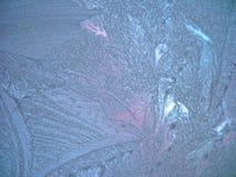 冻结的视窗冬天 免版税库存照片