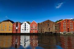 水的议院,特隆赫姆,挪威 库存照片