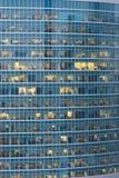 的许多人民摩天大楼和建筑窗口在莫斯科Cit 免版税库存照片
