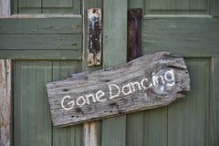 去的跳舞。 免版税库存图片