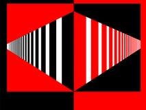 黑的透视红色和 免版税库存照片