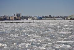 冻结的都市风景 免版税图库摄影
