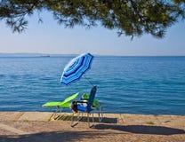 的里雅斯特,意大利, Barcola散步和释放沐浴子线, popul 免版税图库摄影