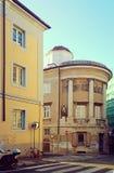 的里雅斯特,意大利, Rotonda Pancera宫殿在老镇 免版税库存图片