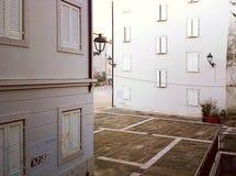 的里雅斯特,意大利-小正方形在老镇 库存照片