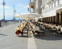 的里雅斯特,意大利2014年6月01日:广场Unita d ` T的意大利广场 免版税库存照片