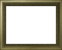 绘的金黄框架 免版税库存照片