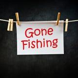 去的钓鱼的笔记 免版税库存照片
