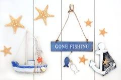 去的钓鱼的装饰摘要 免版税库存照片