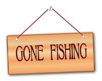 去的钓鱼 免版税图库摄影