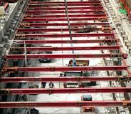 轻的铁路建设在台湾 免版税库存照片