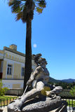 死的阿奇里斯, Achilleion宫殿-科孚岛 免版税库存照片