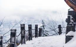 冻结的障碍保护免受落 图库摄影