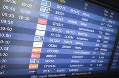离去的飞行信息 图库摄影