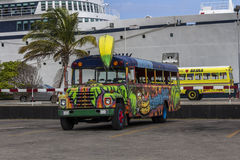质朴的香蕉公共汽车 库存照片