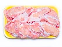 冻结的鸡 免版税库存照片