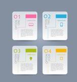 介绍的,教育,网络设计,横幅,小册子,飞行物企业infographic模板 库存例证